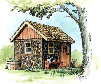 Cordwood shed b4ubuild for Cordwood home designs