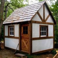The Tudor Backyard Building