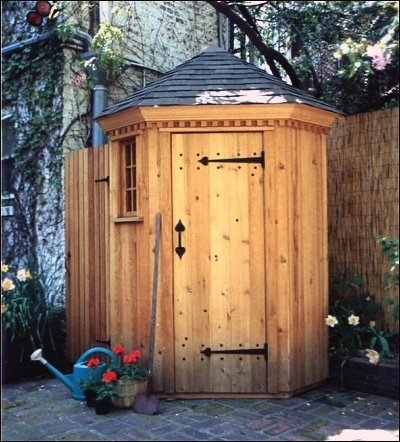 Hexagonal garden tool shed b4ubuild for Garden tool shed designs