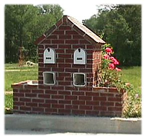 A Picture of A Double Wide Brick Mailbox - B4UBUILD.COM