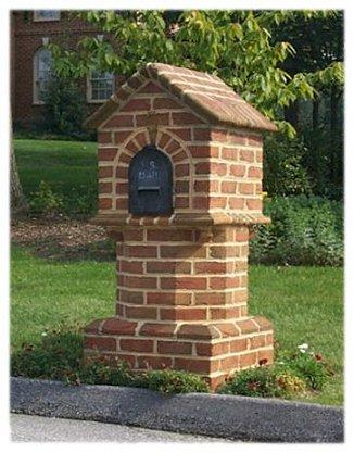 A Picture of a Custom Brick Mailbox - B4UBUILD.COM