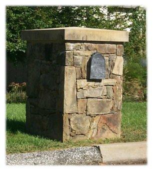 Picture of a Custom Stone Mailbox - B4UBUILD.COM