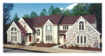 B4ubuild com photo of a stone and brick house for Different types of stone for houses