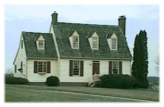 Colonial Revival Cape Cod House