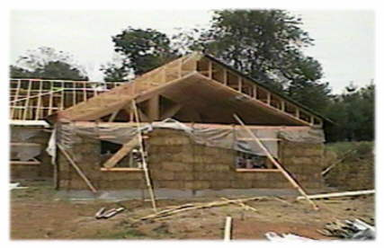 How to install trusses gambrel 39 open web steel roof for Vaulted ceiling trusses