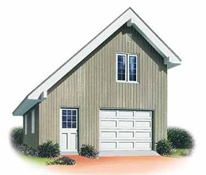 Two Car Garage With Loft Garage Plans - Floor Plan #ALP-05KS