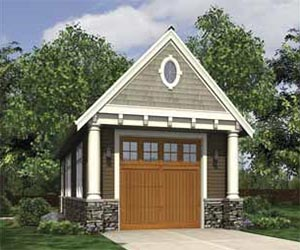 Ham building a shed on a hillside Small home plans with garage