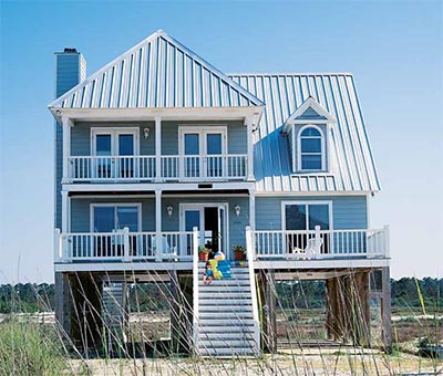 Beach house plans on pilings home plans home design Beach house plans