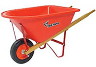 Real Tools For Kids Lil' Wheelbarrow With Poly Tray