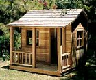 B4ubuild com house plans barn garage shed cabin for Playhouse with garage plans