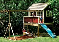 Shed w/ Playhouse Loft Plans, Woodworking Plans and Patterns by