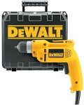 DeWalt D21008K Heavy Duty 3/8 inch VSR Drill Kit with Keyless Chuck and Carrying Case