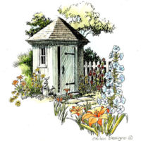 Hexagonal Garden Tool Shed