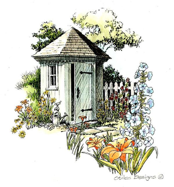 Hexagonal Garden Tool Shed