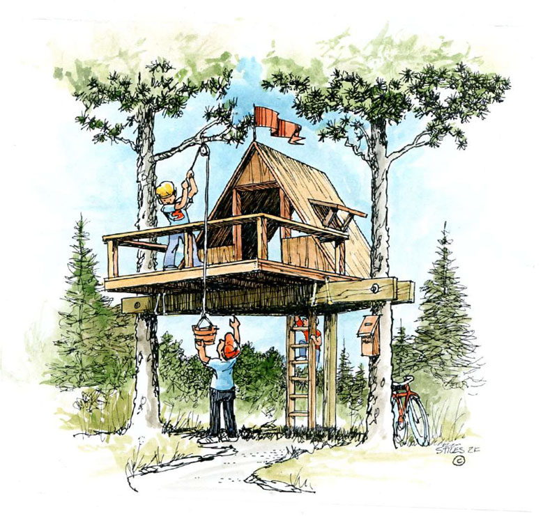 Easy-to-Build Treehouse
