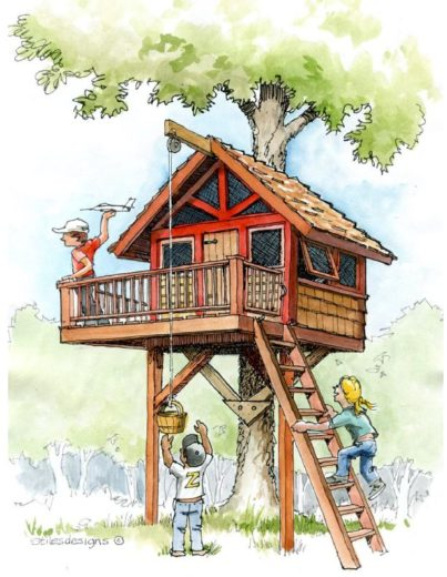Kid S Treehouse Plans B4ubuild